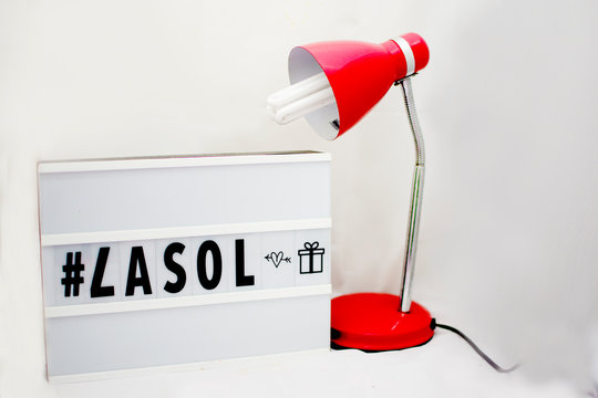 lampara rojo pizarra luces