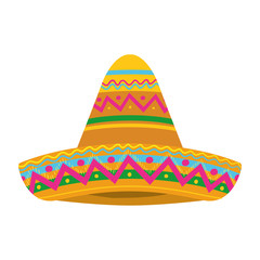 mexican hat isolated icon