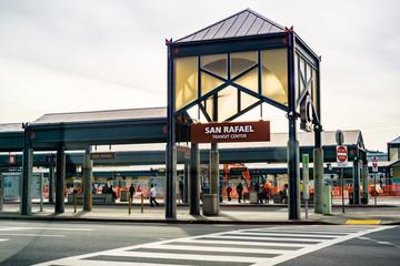 March 31, 2019 San Rafael / CA / USA - San Rafael transit center in north San Francisco bay area, Marin county