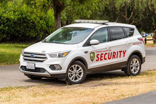May 9, 2019 Palo Alto / CA / USA - Security Vehicle operated by Stanford Health Care