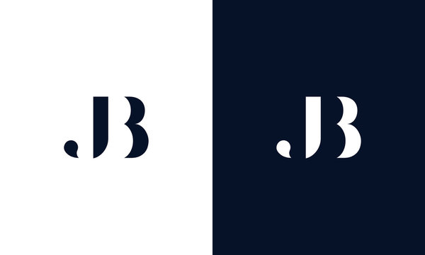 Abstract letter JB logo. This logo icon incorporate with abstract shape in the creative way.