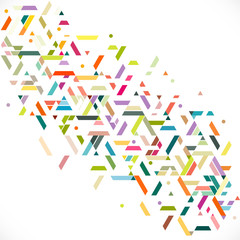 Abstract colorful and creative geometric stripe with a variety of graphic and pattern on white. Corporate business or technology identity design, online presentation website element