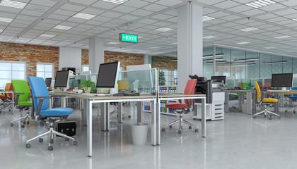 Büro - Großraumbüro - Bürogebäude - Fabrikhalle - Bürofläche - Gewerbefläche - Immobilie