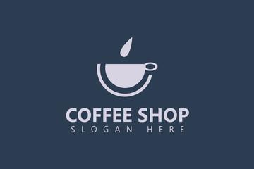 Coffee shop logo design. Coffee logo template. Vector illustration