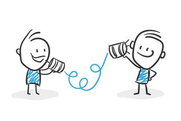 Stickman Blue: Telephone, Communication. (Nr. 58)