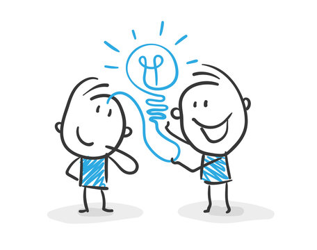 Stickman Blue: Business, Idea. (Nr. 59)