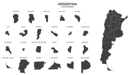 map of argentina on transparent background Fotomurales