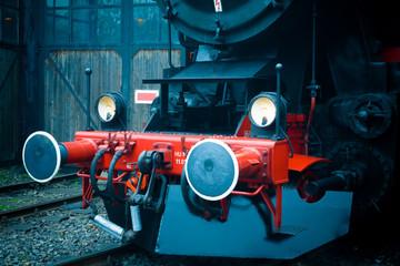 Alte Dampflok der Deutschen Reichsbahn