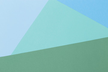 Paper blue, green, pastel empty background, geometrically located. Color blank for presentations, copy space. Fototapete
