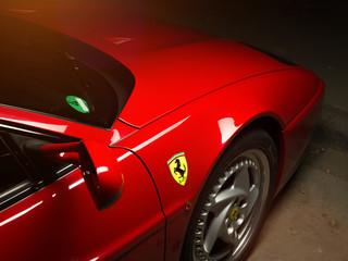 Aachen, Germany, June 14, 2013: Arranged Street shot of an historic Ferrari 512B testarossa Car.