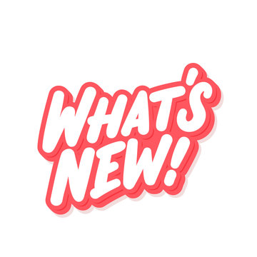 What's new. Vector lettering banner.