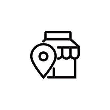 Find merchant icon Find store vector isolated on background. Trendy sweet symbol. Pixel perfect. illustration EPS 10. - Vector