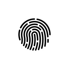 Touch id icon Finger vector isolated on background. Trendy Security symbol. Pixel perfect. illustration EPS 10. - Vector