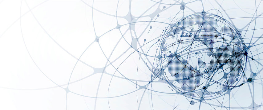 Technology data background, idea of global business solution