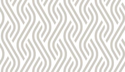 Vector geometric diagonal fabric waves seamless texture. Cream colour background.