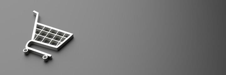 Obraz e-commerce symbol on black background, black friday concept. 3d illustration - fototapety do salonu