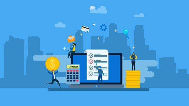 Website or landing page of Payroll, salary payment administrative with Tiny People Character Concept Vector Illustration, Suitable For Wallpaper, Banner, Background, Card, Book Illustration, Web