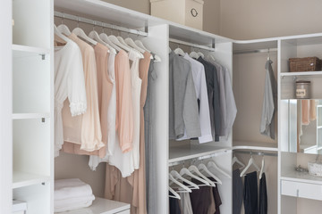 modern wardorbe with set of clothes
