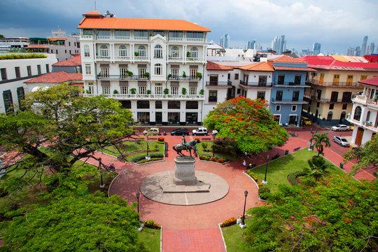 Casco Viejo the historical part of panama City in Panama