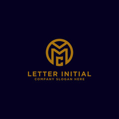 logo design inspiration, for companies from the initial letters of the MC logo icon. -Vectors