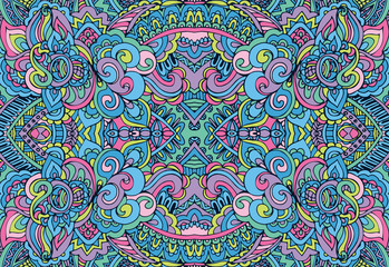 Abstract Doodle style seamless pattern ornamental vector.