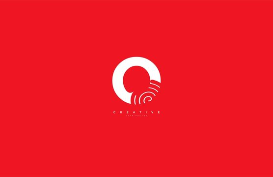 Initial O Letter Abstract Spiral Element Style Logotype