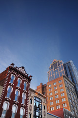 RALEIGH,NC/USA - 2-07-2019: Buildings on Fayetteville Street in downtown Raleigh, NC, including the historic Briggs Hardware building