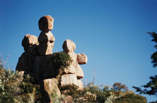 Zimbabwe, Bulawayo, Beautiful rock formation and scenic of Motobo Hills