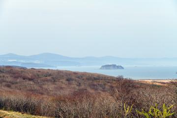 Russky Island scenery, Far East of Russia. Vladivostok