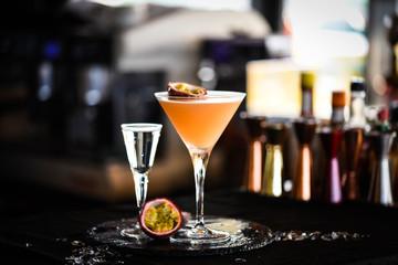 passion fruit & prosseco cocktail