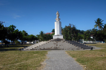 Photo sur Aluminium Commemoratif East-Timor (Timor-LEste), Dili, white statue in the park of Dili