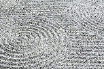 Japan, Kyoto, Tofukuji Temple, Pattern in Sand