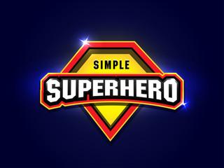 Simple Super hero power full typography, t-shirt graphics, vectors. Super hero apparal t-shirt design.