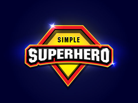 Simple Super hero power full typography, t-shirt graphics, vectors. Super hero apparal t-shirt design.