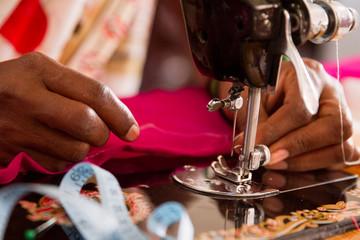 Close Up Sewing Machine