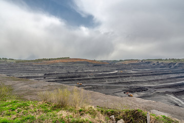 View of a large quarry for mining.