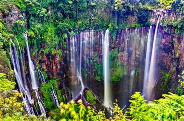 Tumpak Sewu Waterfalls in East Java, Indonesia