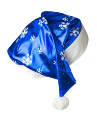 Santa Claus  hat isolated on white background .Santa Claus  hat that is for wearing on Christmas Day.
