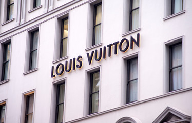 View at Louis Vuitton shop in Sydney, Australia. Louis Vuitton is a French fashion house founded in 1854 and one of the world's leading international fashion houses.