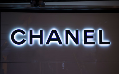 Detail from Chanel shop in Sidney, Australia. Chanel is French fashion company founded at 1909 in Paris.