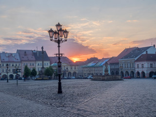 Photo sur Plexiglas Europe de l Est Czech Republic, Jicin. Sun setting in the historic center of Jicin.