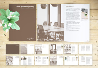 Brown and White Book Layout