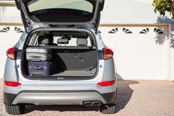 luggage in the trunk