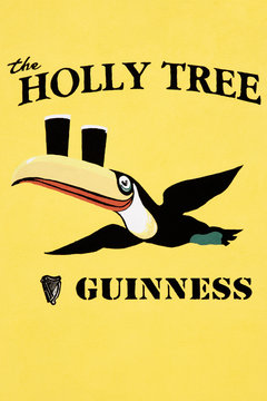 Ireland, Roscommon. Close-up of sign on Holly Tree pub.