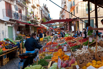 The Capo market in Palermo Sicily Italy