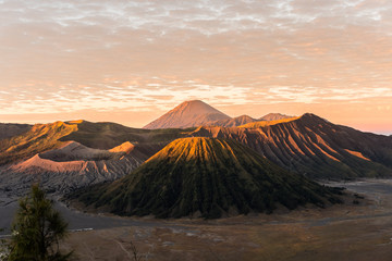 Sunrise view over Tengger Bromo caldera