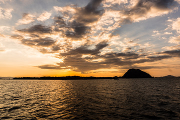 Sunset over Komodo island