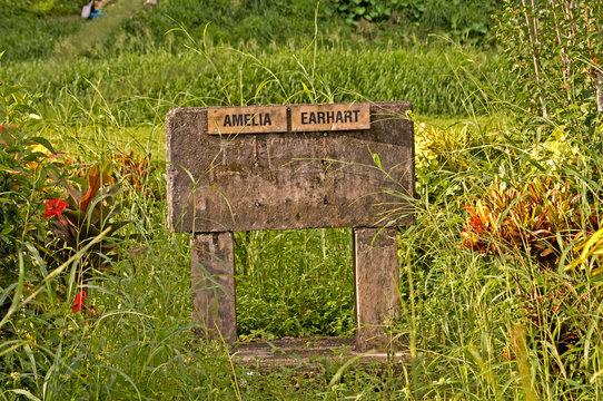 Papua New Guinea, Lae. Amelia Earhart Memorial.