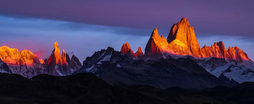 Argentina, Patagonia, Sunrise, colorful