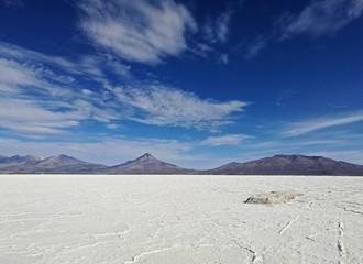 Salar de Uyuni, Bolivia. View of Volcan Tahua, in Uyuni, Bolivia.